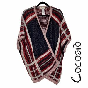 Cocogio Anthropologie Made in Italy Poncho Sweater